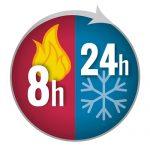 שמירת מזון חם ל-8 שעות ומזון קר ל-24 שעות